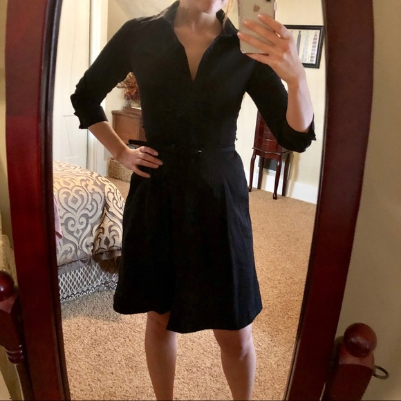b21b78430 Talbots Dresses | Black Button Down Aline Dress | Poshmark